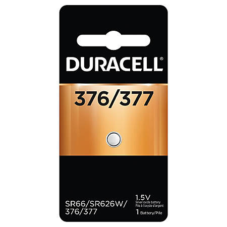 Duracell Silver Oxide 376/377 Button Battery, Pack of 1