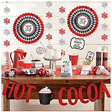 Amscan Christmas Cocoa Deluxe Buffet Decorating