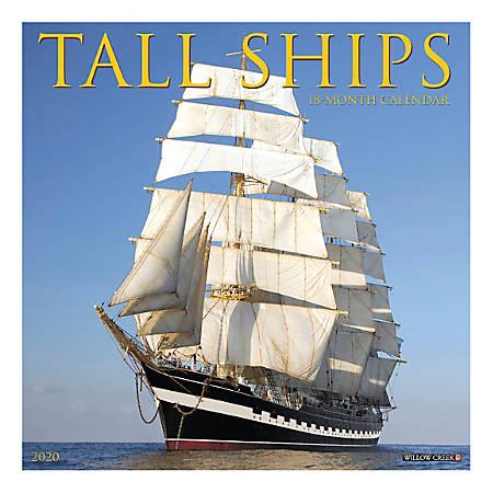 "Willow Creek Press Hobbies Monthly Wall Calendar, 12"" x 12"", Tall Ships, January To December 2020"