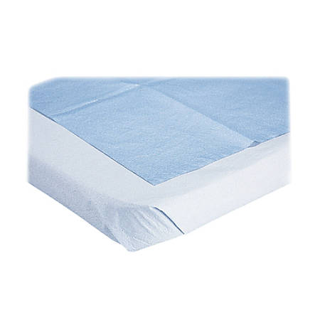 """Medline Disposable Stretcher Sheets, 40"""" x 90"""", Blue, Box Of 50"""