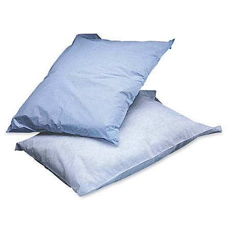 "Medline Disposable Pillow Covers, 21"" x 30"", Blue, Box Of 100"