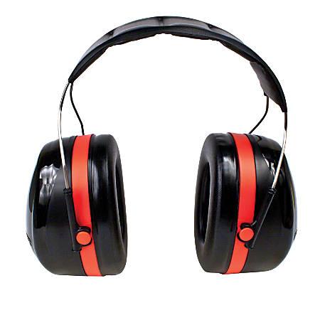 3M™ PELTOR™ Optime™ 105 Behind-the-Head Earmuffs, Red/Black