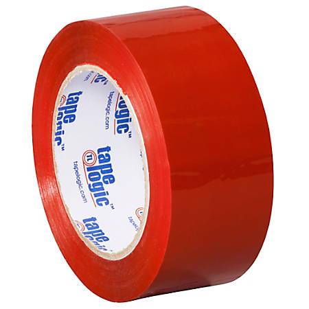 """Tape Logic® Carton Sealing Tape, 2"""" x 110 Yd., Red, Case Of 36"""