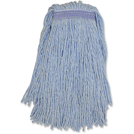 Genuine Joe Blended Yarn Blue Mophead - Yarn