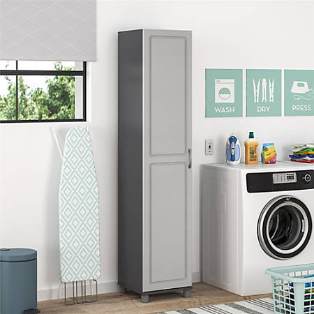 Ameriwood Home Kendall 16 Utility Storage Cabinet 5 Shelves Gray