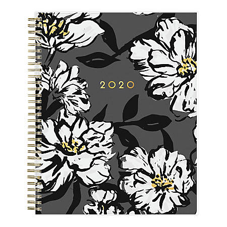 """Blue Sky™ Bacarra Dark Monthly CYO Planner, 8"""" x 10"""", Multicolor, January To December 2020, 110216"""