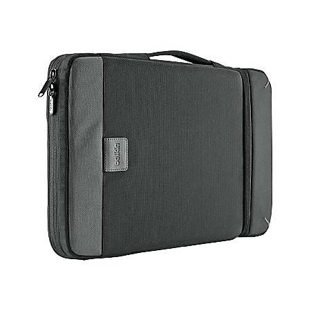 "Belkin Air Protect Carrying Case (Sleeve) 11"" MacBook Air - Black, Gray - Impact Resistant Interior, Shock Absorbing, Drop Resistant, Tear Resistant - Ballistic Nylon - Handle x 8"" Width"