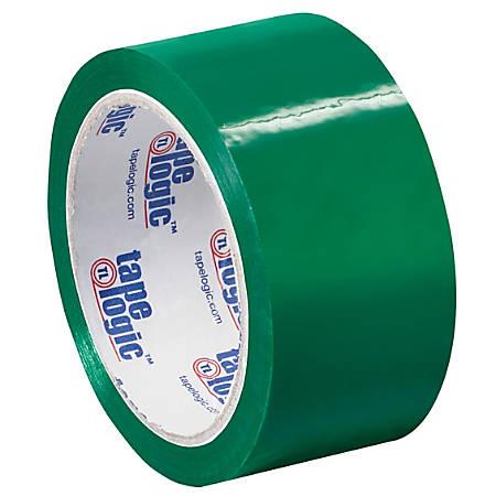 """Tape Logic® Carton Sealing Tape, 2"""" x 55 Yd., Green, Case Of 36"""