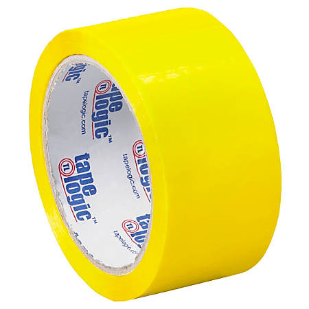 "Tape Logic® Carton Sealing Tape, 2"" x 55 Yd., Yellow, Case Of 36"