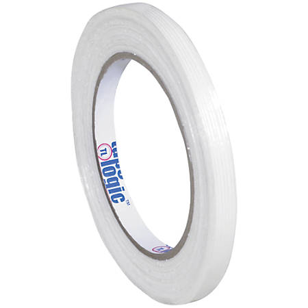 "Tape Logic® 1300 Strapping Tape, 3/8"" x 60 Yd., Clear, Case Of 12"
