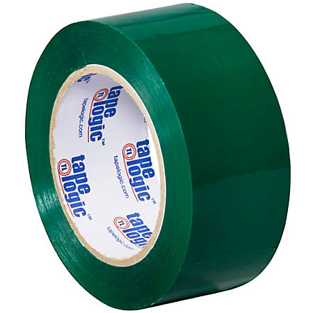 "Tape Logic® Carton Sealing Tape, 2"" x 110 Yd., Green, Case Of 36"