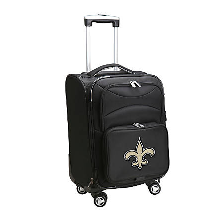 "Denco ABS Upright Rolling Carry-On Luggage, 21""H x 13""W x 9""D, New Orleans Saints, Black"