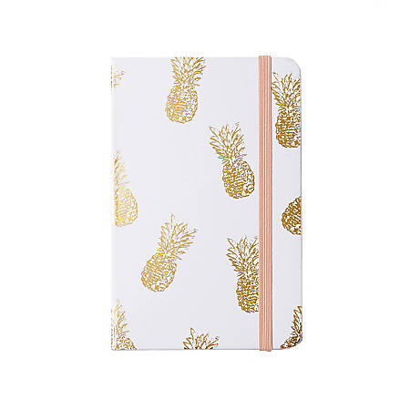 """Sincerely A Collection by C.R. Gibson® Mini Pocket Journal, 3 1/2"""" x 5 1/2"""", Gold Pineapple"""