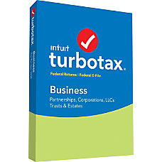 TurboTax Business Federal E File 2018