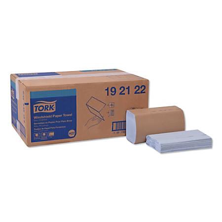 "Tork 1-Ply Windshield Towels, 9-1/8"" x 10-1/4"", Blue, 140 Towels Per Pack, Carton Of 16 Packs"