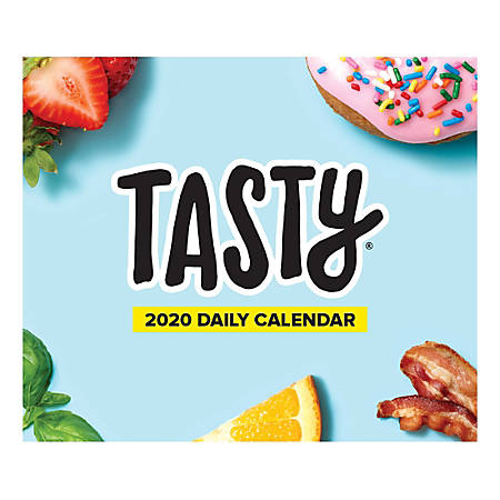 """Willow Creek Press Page-A-Day Daily Desk Calendar, 5-1/2"""" x 6-1/4"""", Tasty, January to December 2020, 53919"""