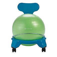Gaiam Kids Balance Ball Chair BlueGreen