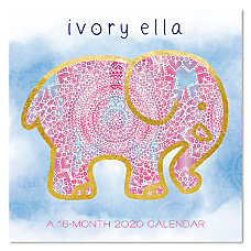 Mead Ivory Ella Monthly Wall Calendar