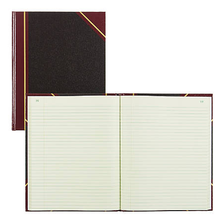 """National® Brand 50% Recycled Black Texhide Record Book With Margin, 8 3/8"""" x 10 3/8"""", 150 Pages"""