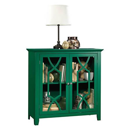 Sauder® Shoal Creek Display Cabinet, 2 Shelves, Emerald Green