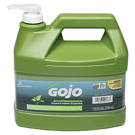 SKILCRAFT® GOJO Eco-Preferred Pumice Hand Cleaner, Lime Scent, 1 Gallon, Pack Of 4 (AbilityOne 8520-01-647-1708)