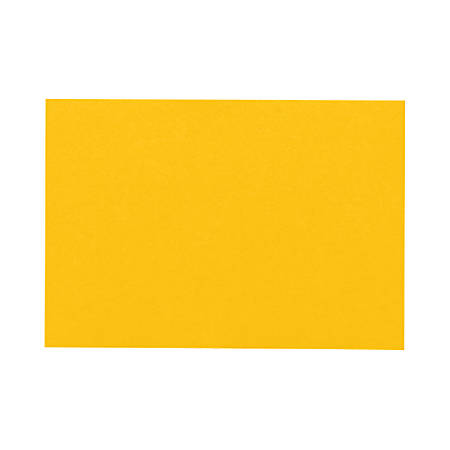 "LUX Flat Cards, A1, 3 1/2"" x 4 7/8"", Sunflower Yellow, Pack Of 50"