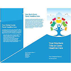 Customizable Trifold Brochure Tree Of Book