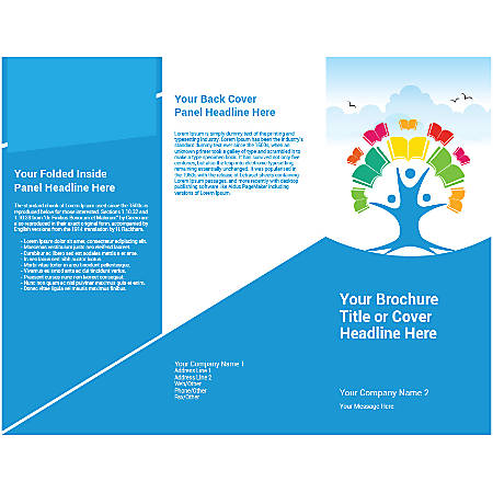 Customizable Trifold Brochure, Tree Of Book