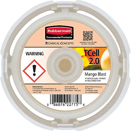 Rubbermaid Commercial® TCell™ System Fragrance Refill, Mango Scent, Carton Of 6