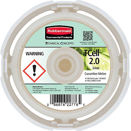 Rubbermaid Commercial® TCell™ System Fragrance Refill, Cucumber Melon, Carton Of 6