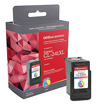 Office Depot® Brand ODCL241XL (Canon CL-241XL) Remanufactured High-Yield Tricolor Ink Cartridge