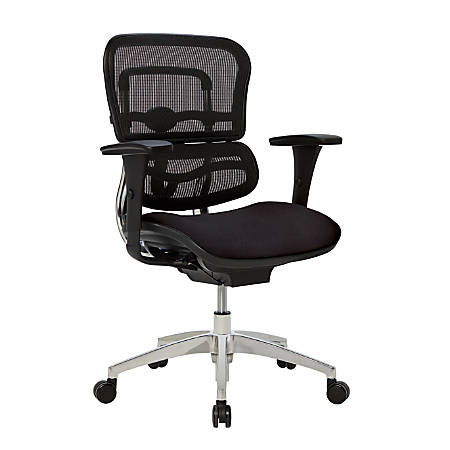 Workpro 12000 Mesh Mid Back Chair Black