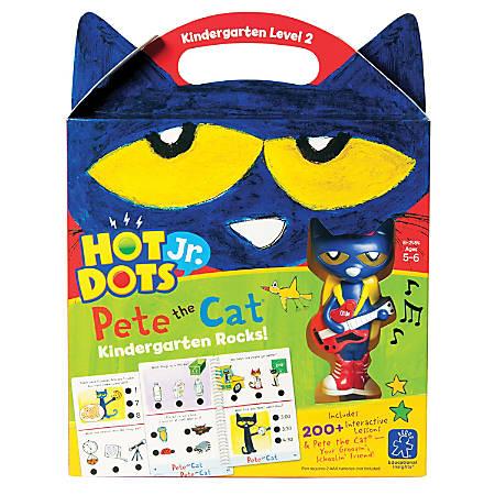 Educational Insights Hot Dots® Jr. Pete the Cat®, Kindergarten Rocks! Set With Pete Pen, Pre-K - 2nd Grade