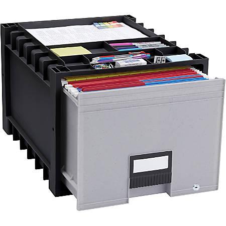 Storex Heavy-duty Archive Drawer, Black/Gray