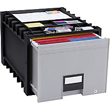 Storex Heavy duty Archive Drawer BlackGray