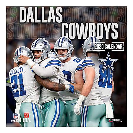 "Turner Licensing Monthly Wall Calendar, 12"" x 12"", Dallas Cowboys, 2020"
