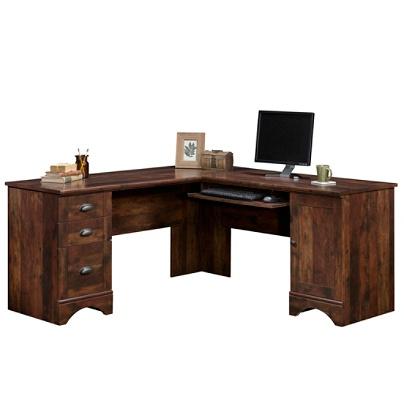 Sauder Harbor View Collection Corner Computer Desk Curado Cherry Item 9702860