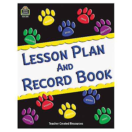 Teacher Created Resources 40-Week Lesson Plan And Record Book, Paw Prints