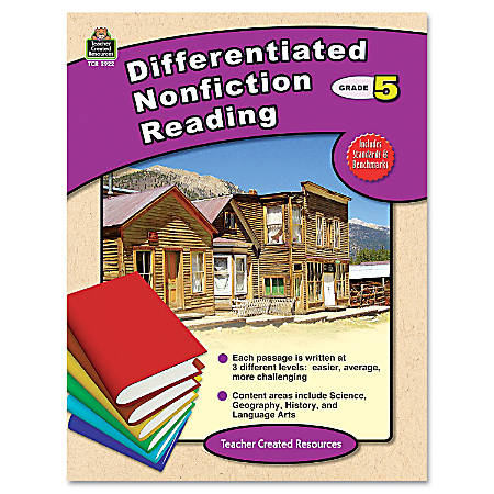 Teacher Created Resources Differentiated Nonfiction Reading, Grade 5