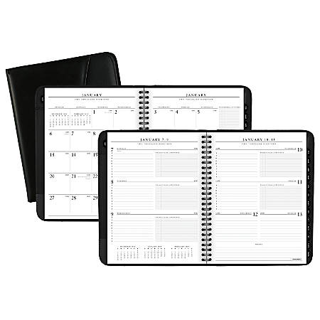 """AT-A-GLANCE® Executive® Weekly/Monthly Appointment Book/Planner, 6 5/8"""" x 8 3/4"""", Black, January to December 2019"""
