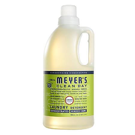 Mrs. Meyer's Clean Day Liquid Laundry Detergent, Lemon Scent, 64 Oz