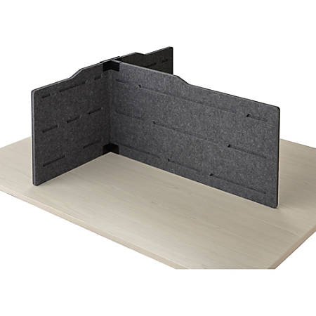 "Safco T-connector Personal Privacy Panel Kit - 36"" Width - Polyester Fiber, Steel - Gray"