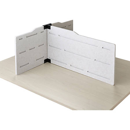 """Safco T-connector Personal Privacy Panel Kit - 36"""" Width - Polyester Fiber, Steel - Tan"""