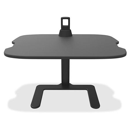 Safco Height Adjule Laptop Stand 21 5 X 27 Width 18 Depth Steel Medium Density Fiberboard Mdf Aluminum Black Office Depot