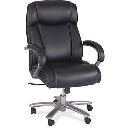 Safco® Big And Tall Bonded Leather High-Back Chair, Black