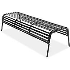 Safco CoGo IndoorOutdoor Steel Bench Black