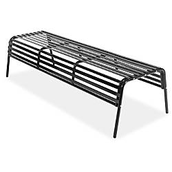 Safco CoGo IndoorOutdoor Steel Bench Black