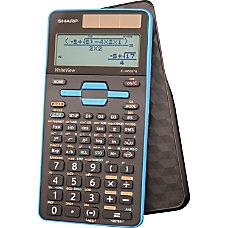 Sharp EL W535TGBBL Scientific Calculator BlackBlue
