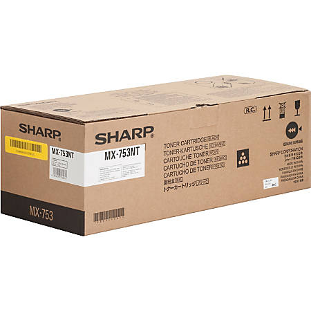 Sharp MX753NT Original Toner Cartridge - Laser - 83000 Pages - Black - 1 Each