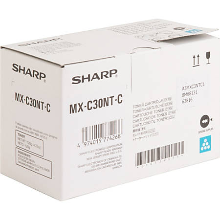 Sharp MX-C30NT-C - Cyan - original - toner cartridge - for Sharp MX-C250, MX-C300W, MX-C301W